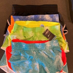 4 pairs of women's Nike dry fit shorts